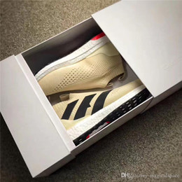 Wholesale Creamy White - 2017 Ultra Boost ACE 16++ PURECONTROL Beckham Creamy White Men Running Shoes Original Quality Parcel Breathable Outdoor Sneakers With Box
