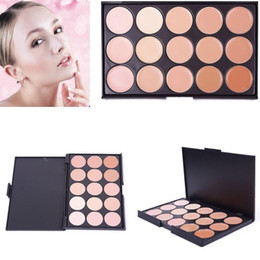 Wholesale Cream Eyeshadow Palettes Sale - Hot sale 15 Color Concealer Camouflage Face Cream Makeup Palette Set Make up Concealer Eyeshadow Cosmetic High Quality