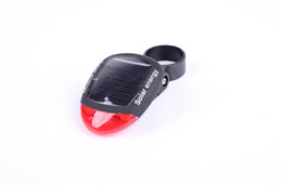 Wholesale Solar Energy Bicycle Tail Light - Mountain bike solor energy rechargeable rear light bicycle seat saddle solar lamp bicycle safety lights flash-flash-steady-off