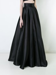 Wholesale Women Clothes Black Long Skirt - Maxi long pleated Skirt women High waist A Line skirt elegant party wear office plus size 5XL 4XL female fashion Floor Length Clothing