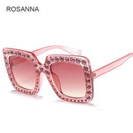 Wholesale Diamond Sunglasses - Luxury Cat Eye Sunglasses Women Italy Brand Designer Diamond Sun glasses Ladies Vintage Oversized Shades Female Goggle Eyewear YW165