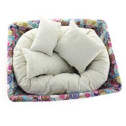 Wholesale Polyester Pillow Filler - Wholesale- 4PCS Set Baby Newborn Photography Pillow Basket Filler Wheat Donut Posing Props