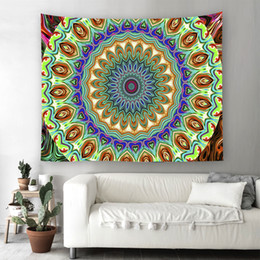 Wholesale Exotic Tables - Exotic Wind Style Tapestry India Mandala Wall Hanging Tapestries Colorful Printing Beach Towel Blanket Table Cloth Picnic Mat Yoga Mat