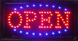 Wholesale Outdoor Led Billboard - 2016 hot sale super brightly customized led light sign led open sign billboard 10*19 Inch semi-outdoor free shipping