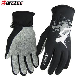 Wholesale Glove Silicon - Wholesale-2015 XUEYU Outdoor Sports full finger winter gloves Thermal Warm Casual Gloves black color with silicon print Windproof