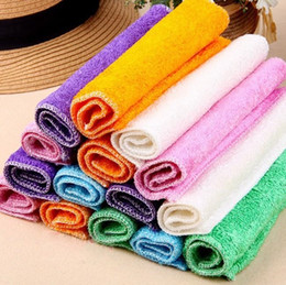 Wholesale Bamboo Wash - Supplying bamboo fiber dish towel 23cm*18cm non-stick oil wash cloth rag cleaning cloth towel charcoal