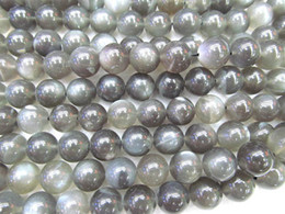 Wholesale Black Moonstone Beads - High Quality 4-12mm full strand Natural moonstone gems Round Ball white grey black flashy jewelry beads