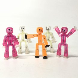 Wholesale Pink Animations - Zing Stikbot Lot5 Orange Pink Clean ROBOT ANIMATION Single Figures Kid Toy For Birthday Gift CA144