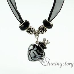 Urne in miniatura online-piccola urna collana in miniatura urne cenere gioielli funerari gioielli ricordo collana di urna gioielli collana cuore commemorativo