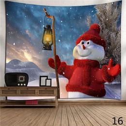 Wholesale Wholesale Yoga Cloths - Christmas Tapestry Santa Tapestrys Wall Hang Blankets Polyester Bohemian Mandala Shawl Bath Towel Hippie Throw Yoga Mat Wall Carpet Hot