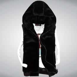 Wholesale Korean Winter Fashion Vest Coat - Fall-2015 Korean couple hooded men winter vest, fashion mens fur vest Men High Quality Cotton-padded Waistcoat M30048 thick warm coat
