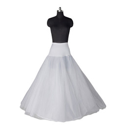 Wholesale Hoopless Petticoats - Free Shipping Stock White Newest Petticoat Hoopless for Bridal Ball Gowns A-Line Wedding Dresses Petticoats Bridal Accessories