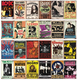 Wholesale Wholesale Antique Toilets - AC DC Chaplin The who Corona Toilet Damn Bob Marley Black Sabbath Frank Zappa Lennon Vintage Tin Sign Metal Poster Bar Pub Signs Wall decor