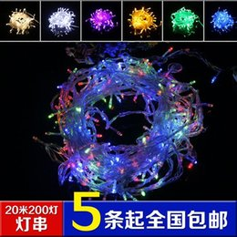 Wholesale Cheap Led White Christmas Lights - Cheap led star string lights holiday light string lights wedding lights string Christmas lights with tail plug yellow flashing light wholesa