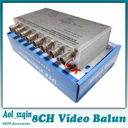 Wholesale Twisted Pair Balun - 8CH Passive Video Balun CCTV via Twisted Pair DC-8MHZ 60DB for NTSC PAL SECAM CCIR for Security CCTV Camera System