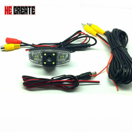 Wholesale Camera Ccd - Reverse parking camera For Honda  accord 7 (2003-2008) Rear view ccd Camera Waterproof Camera with wide view angle Car reversing
