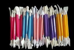 modelli di fiori di torta Sconti Cake carving knife sculpture Decorating Flower Fondant Modelling Craft Clays Sugarcraft Tool Cutter set di 8 pezzi