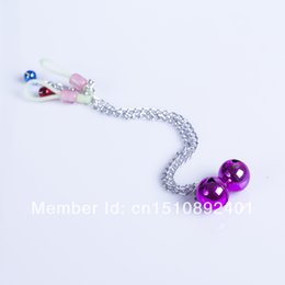 Wholesale Sexy Female Long Sex - Wholesale-15% off Long Chain Clips Bell Nipple Clamps Sex Toy Adult Product Shaking Stimulate Clip Sexy Female Breast Massage