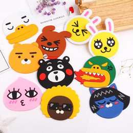 Wholesale Bearing Temperature - Wholesale- 1pc Fashion Creative Cartoon Silicone Bear Rabbit Coffee Table Coaster High Temperature Resistanced Drink Cup Mat