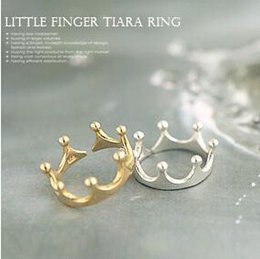 Wholesale Import South Korea - Wholesale-nz19 South Korea Crown Ring imported palace restoring ancient ways the queen's temperament Woodwork the tail Silver Ring