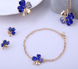 Wholesale Wholesale Sale Plate Cover - Hot sale 925 Silver Plated Lucky Covers Necklace Austrian Crystal Necklace Earring Bracelet Rings Jewelry Set ZQ