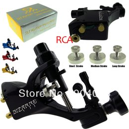 Wholesale Stigma Kit - Wholesale-Professional rotary tattoo machine strong motor gun Stigma Bizarre V2 Gun Tattoo Kits with Stroker