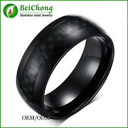 Wholesale China Carbon Fiber - BC Jewelry Wholesale 2015 New Hot Sale West Fashion jewelry Top grade Black Ceramic Classic Rings Carbon Fiber Male ring for men BC-086