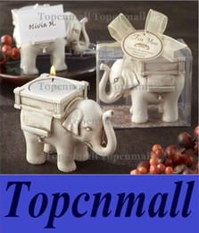 "Wholesale Wholesale Tea Cup Candles - NEW ARRIVALWedding Favors ""Lucky Elephant"" Tea Light Candle Holder"