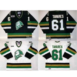 Wholesale Mixed Order Tops - #61 JOHN TAVARES jersey LONDON KNIGHTS JERSEY New York HOCKEY JERSEYS Drop Shipping Top Quality Accept Mixed orders