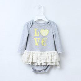 Wholesale Long Skirts Girls - Baby Romper Baby Girl Dress Infant Girls Newborn Romper tutu Dress Cake Skirt Rompers Baby Cotton Clothing