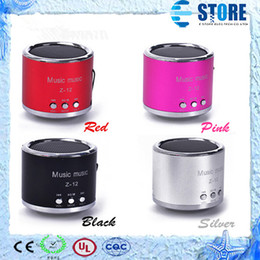 Wholesale Mini Amplifier For Mp3 - Portable Mini Speaker Computer Amplifier FM Radio USB Micro SD TF Card MP3 Mp4 Player For iPhone 6 5s 5c,Free shipping,A