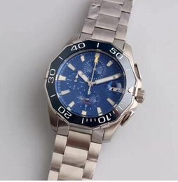 Wholesale Classic Watches For Men - Luxury Watch For Men Fashion Classic Style 43mm Ceramic Bezel Stainless Steel Strap High Quality Automatic Movement Aquaracer Wristwatch