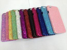 Wholesale Glue For Bling Phone Case - For iphone 6 4.7'' 4.7 Plus 5.5'' 5.5 Veneer Gluing Glitter Hard Plastic PC Case Bling Back Shiny Skin Cell Phone Shell Luxury