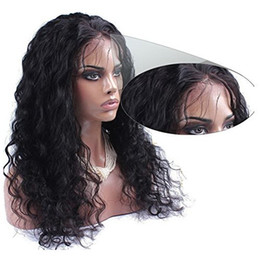 Wholesale Long Dark Brown Hair Curled - Pre plucked 360 lace wig 130%density loose curl braziian hair 360 lace frontal with cap with natural hairline 360 lace wig