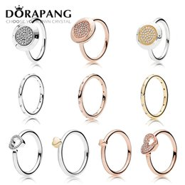 Wholesale gypsy woman - DORAPANG 925 Sterling Silver Ring fashion Popular Charms Wedding Ring For Women Heart-shaped Lovers Autograph Rings DIY Jewelry