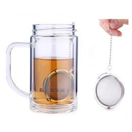 vasi di buona qualità Sconti 4.5 cm infusore tè in acciaio inox teiera infusore sfera della maglia colino da tè palla buona qualità
