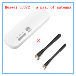 Modem wifi de 4 g lte on-line-Freeshipping Desbloqueado E8372 (mais um par de antena) LTE USB Wingle LTE Universal 4G USB Modem Wi-fi do carro E8372h-608 E8372h-153