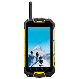 Wholesale Mtk6589 Hebrew - Snopow M8 IP68 rugged Waterproof 4G LTE Cell Phone Android PTT two way Radio Walkie talkie MTK6589 GPS 3G Runbo X6
