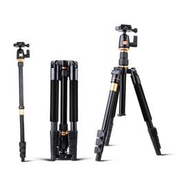 Dslr câmera suporte tripé on-line-Original QZSD Liga De Alumínio Profissional Tripé Extensível DSLR Camera Video Monopé com Placa de Liberação Rápida Placa Stand Q555 BA