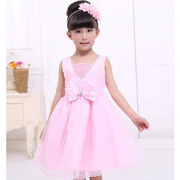 Wholesale Children Dance Images - 2018 New Summer Baby Party Girls Dress Children Princess Dress Dancing Girl Clothing Top Quality