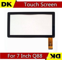 Wholesale Display Screen Q88 - DHL 30PCS Brand New Touch Screen Display Glass Digitizer Panel Replacement For 7 Inch Q88 A13 Tablet PC MID Repair Parts