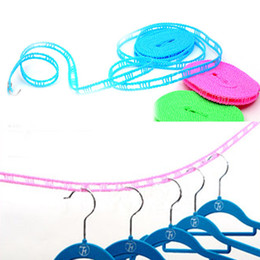 Wholesale Travel Washing Line - 1604 Outdoor Windproof Travel Home Laundry Retractable Clothes Line 5M Washing Line Hangers Color Random Drop Shipping HG-1332\br