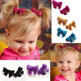 Wholesale Slide Hair Barrettes - 2015 New Arrival Children Hair Accessories Baby Hair Clips Kids Sequin Bow Barrettes Hair Slides Baby Hair Accessories Girl Hair Clips M711