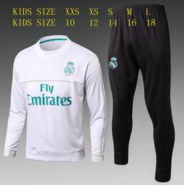 Wholesale men longsleeve - ASENSIO Real madrid trainingsuit Kids set 2017 2018 tracksuit child soccer Jersey Longsleeve RONALDO BALE RAMOS ISCO MODRIC football jacket