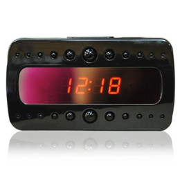 Wholesale Camera Ir Detection - V26 1080P Spy Clock camera IR Night Vision Alarm Clock Mini DVR Full HD Hidden Pinhole camera With Motion Detection Remote Control V26