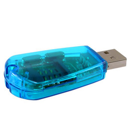 2019 copia della carta sim Vendita all'ingrosso-Hot portatile blu USB Super sim lettore di schede / scrittore / copia / cloner / backup Cell Phone per Backup SMS a PC GSM CDMA cellulare copia della carta sim economici