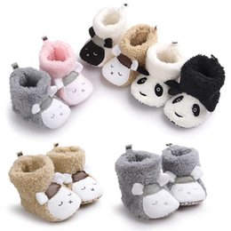 Wholesale Fleece Baby Shoes - 6colours Newborn Baby Winter Boots Shoes Crib Girls Boys Kids First Walkers Fleece Super Keep Warm Snowfield boots shoes