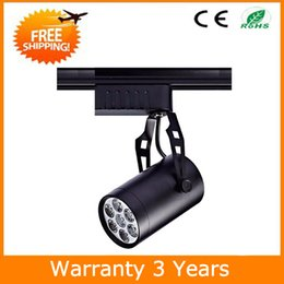 Wholesale Dimmable Led Track Lighting - Dimmable LED Track Light LED Track Spot Light Bulb Spotlight 7W 12W 18W 15PCS White and Black Housing 3 Years Warranty Free Shipping