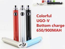 Wholesale Ego V Pass Through - Electronic cigarette ego uGo-v battery uGo-v e cigarette Pass through e-cigarette battery bottom charge with 650-1100mah DHL free shipping