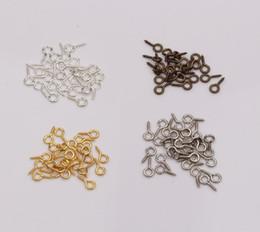 Wholesale Silver Screw Eye - Hot ! 1000pcs New Screw Eye Bail Top Drilled 4x9mm Tibetan Silver  Gold   Silver   Antiqued Bronze DIY Jewelry